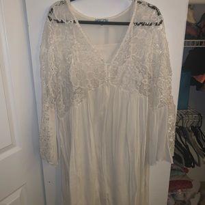Vintage Cream Lace Free People Knock Off Dress